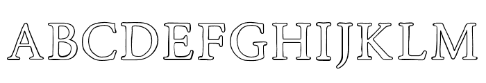 RoadRaceFree-Outline Font LOWERCASE