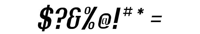 Rollout Semibold Oblique Font OTHER CHARS
