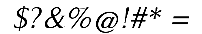 RomanSerif-Oblique Font OTHER CHARS