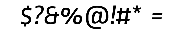 Ropa Sans Italic Font OTHER CHARS