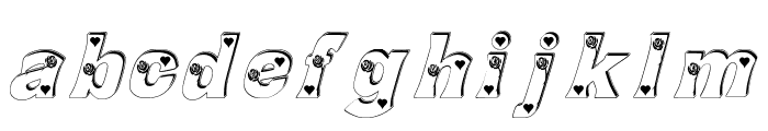 Rose_Heart Font LOWERCASE