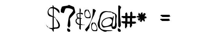 Roughedge Font OTHER CHARS