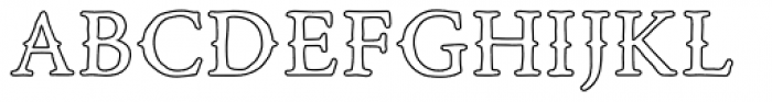 Road Race Extra Outline Font UPPERCASE