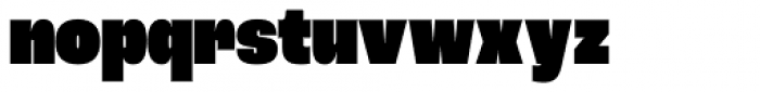 Roc Grotesk Condensed Heavy Font LOWERCASE