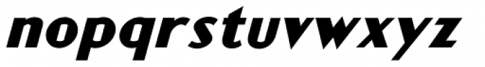 Rocket Man First Stage Italic Font LOWERCASE