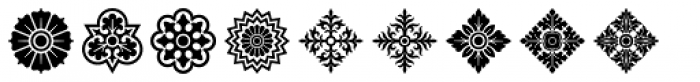 Rosette Ornaments Font OTHER CHARS