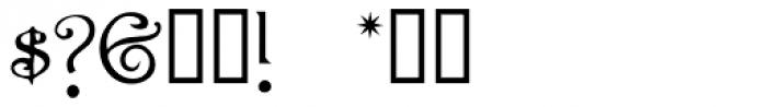 Rossetti Font OTHER CHARS