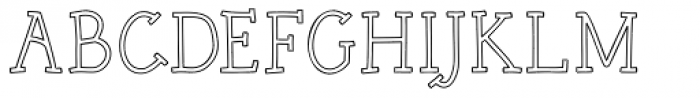 Rough Outline Font UPPERCASE