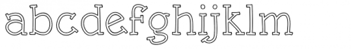 Rough Outline Font LOWERCASE