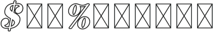 RS Numerals Outline otf (400) Font OTHER CHARS