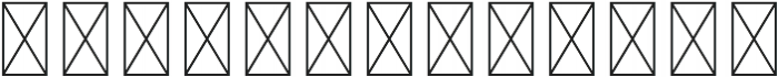RS Numerals Outline otf (400) Font UPPERCASE