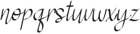 RSVP Calligraphy otf (400) Font LOWERCASE
