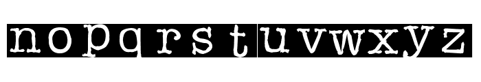 Rubberstamp Font LOWERCASE