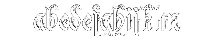 Ruritania-Outline Font LOWERCASE
