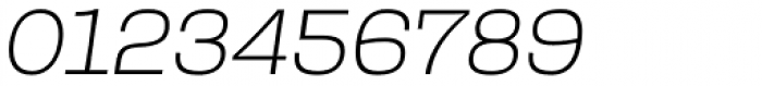 Rude Slab SemiWide Thin Italic Font OTHER CHARS