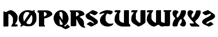Sable Lion Expanded Font UPPERCASE