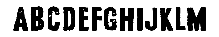 Safe from harm Font UPPERCASE