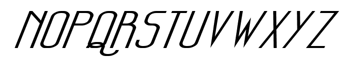 Sanity Wide Italic Font UPPERCASE