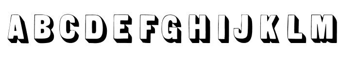 SansSerifShaded Font UPPERCASE