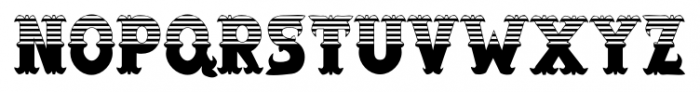 Salloon Stripe Top Font UPPERCASE