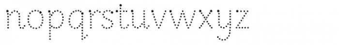 Sassoon Infant Com Dotted Font LOWERCASE