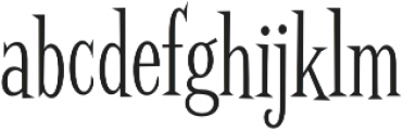 Screwby ExCond Light otf (300) Font LOWERCASE