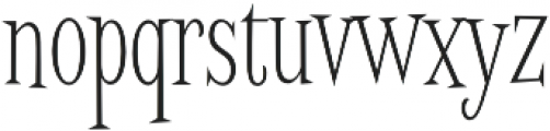 Screwby ExCond Thin otf (100) Font LOWERCASE