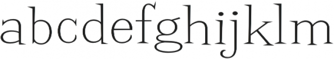 Screwby Wide Thin otf (100) Font LOWERCASE