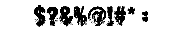 Scare Arms Font OTHER CHARS