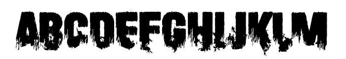 Scare Arms Font UPPERCASE
