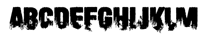 Scare Arms Font LOWERCASE