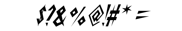 Schrill AOE Oblique Font OTHER CHARS