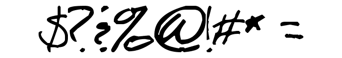 Script of Sheep Font OTHER CHARS