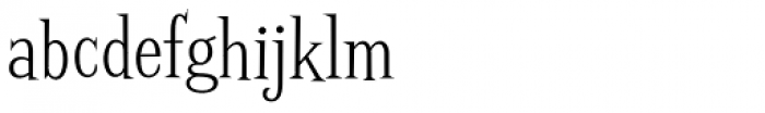 Screwby Condensed Light Font LOWERCASE