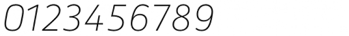 Secca Hairline 35 Italic Font OTHER CHARS