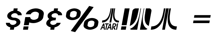 SF Atarian System Extended Italic Font OTHER CHARS