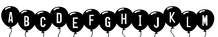 SF Balloons Font UPPERCASE