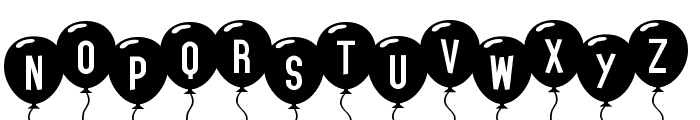 SF Balloons Font LOWERCASE