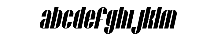 SF Baroquesque Extended Oblique Font LOWERCASE