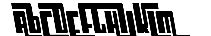 SF Cosmic Age Bold Oblique Font UPPERCASE