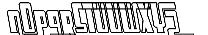 SF Cosmic Age Outline Oblique Font UPPERCASE