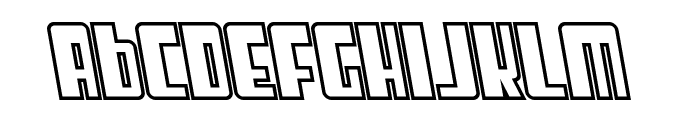 SF Cosmic Age Outline Oblique Font LOWERCASE
