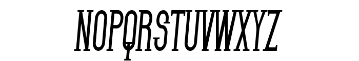 SF Gothican Condensed Bold Italic Font UPPERCASE