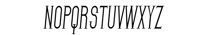 SF Gothican Condensed Italic Font UPPERCASE