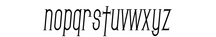 SF Gothican Condensed Italic Font LOWERCASE