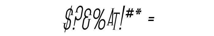 SF Gothican Condensed Oblique Font OTHER CHARS