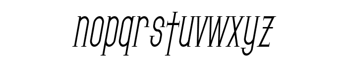 SF Gothican Condensed Oblique Font LOWERCASE