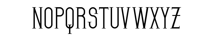 SF Gothican Font UPPERCASE