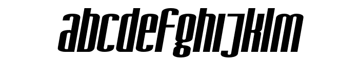 SF Iron Gothic Extended Oblique Font LOWERCASE