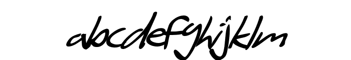 SF Scribbled Sans Bold Italic Font LOWERCASE